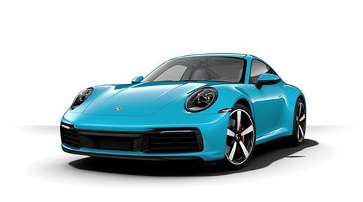 Turquoise Porsche 911