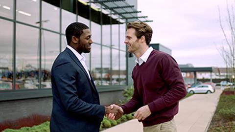 Handshake with Stratstone member