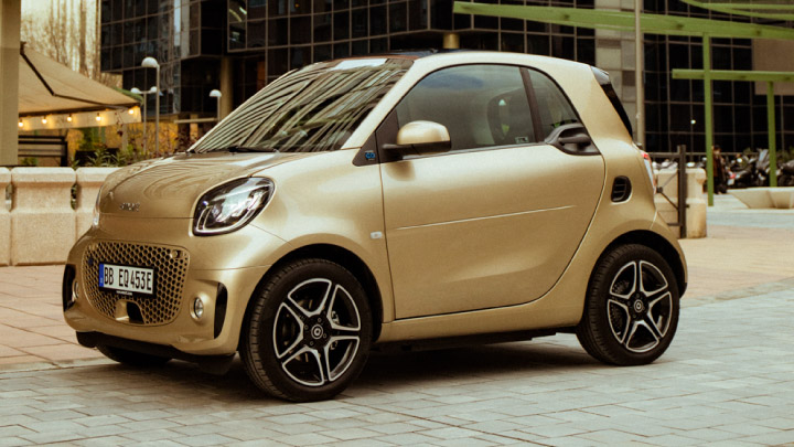 new smart eq fortwo on the road