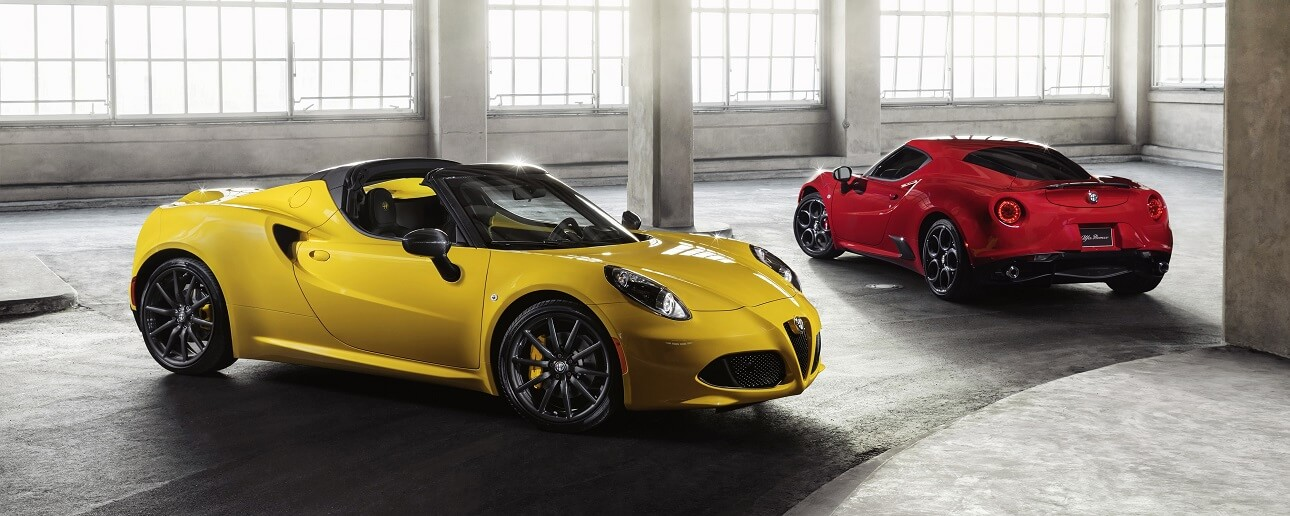 alfa romeo 4c spider and alfa romeo coupe