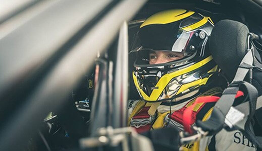sam smeeth drives in ferrari challenge