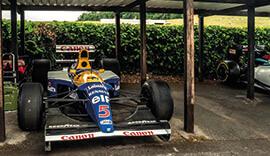 formula 1 cars at shelsley walsh