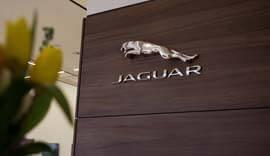 Jaguar branding.