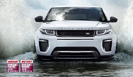 White Range Rover.
