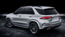 Back view of the 2019 Mercedes-Benz GLE SUV.