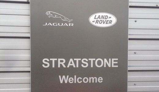 Stratstone Tottenham Service Centre welcome sign.
