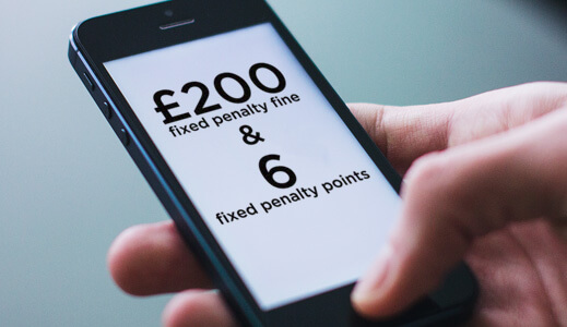 Phone screen with fines on.