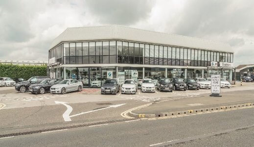 Outside Stratstone BMW Doncaster.
