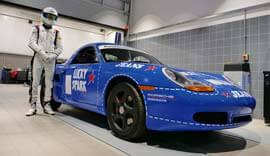 Blue Porsche Classic.