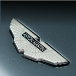 Aston Martin badge.