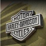 Harley Davidson bike badge.