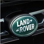 Land Rover badge.