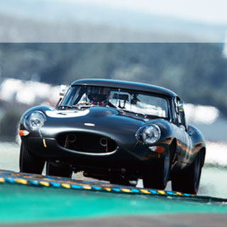 Jaguar Lightweight E-Type at Le Mans.
