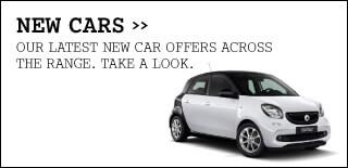 smart new car white